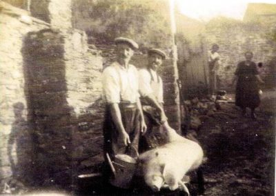 Samuel Friend and George Farrier pig killing