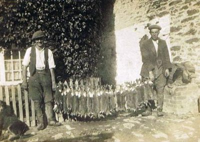 John Francis and William George Tucker (Uncle Bill) with rabbits