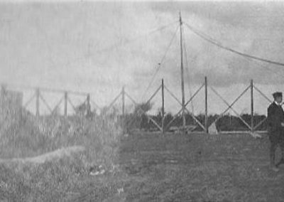 Royal Naval Air Service dismantling a hanger at East Prawle Airfield in 1917 WWI