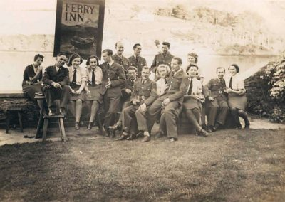 Group of RAF at Ferry Inn Salcombe 1943 WWII