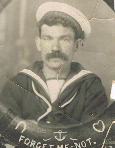 William Alfred Hannaford in Naval uniform during WWI