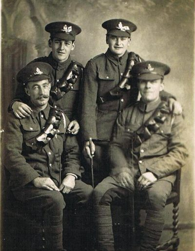 Soldiers - William H Sullock on left WWI