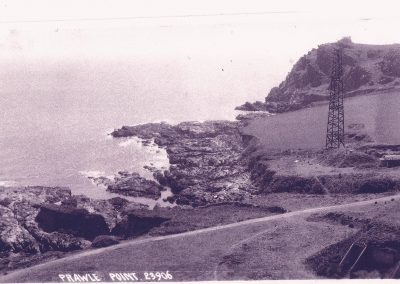 Prawle Point radar tower with the receiver bunker in foreground