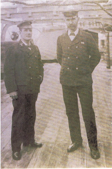 Richard Albert Partridge, on right was reserves Instructor at RNC Dartmouth WWI