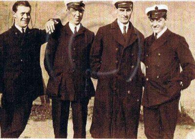 Royal Naval Air Service Group. AJ Edlin on left WWI