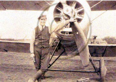 AJ Edlin (ex butcher) engineer on the aeroplanes at East Prawle aerodrome WWI