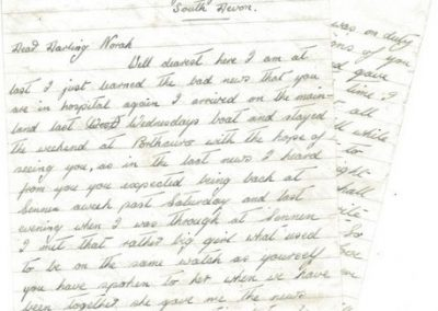 Letter from A Easton at RAF West Prawle