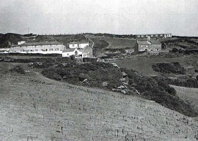 Coastguard cottages and houses down New Houses, including Bonaventura building from First World War, undated