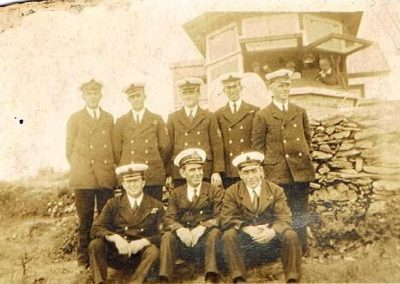 Prawle Point Coastguard team, one is Bert Presley, Uncle Roy Presley's Dad