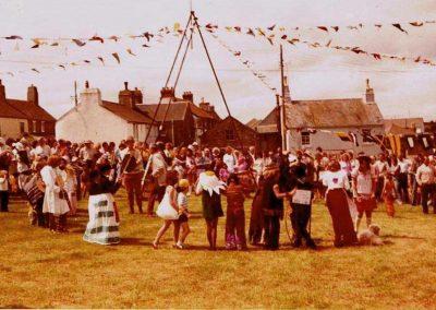 Prawle Fair general milling around of people 1970s