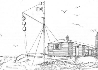 A typical Napoleonic War Admiralty Signal Station, a naval lieutenant, a midshipman & two seamen lived in the two-room signal house(John Goodwin and Roger Barrett)