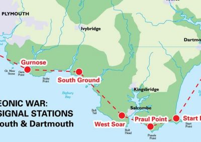 Napoleonic War: Admiralty Signal Stations between Plymouth & Dartmouth