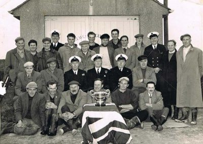 East Prawle LSA rocket apparatus Sunday 16 February 1964, with Webber cup won in 1963