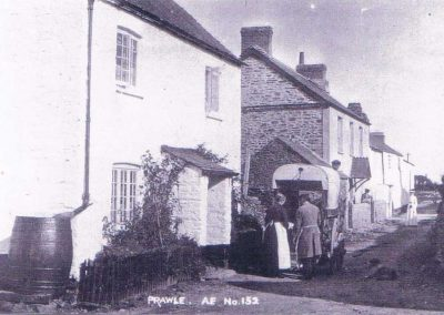 East Prawle Fore Street outside Bowhay House after 1903 and before 1930