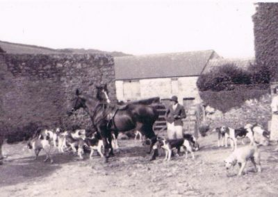 Hounds meeting at Chivelstone Barton, Wakehams 1935-6