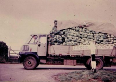 Cauliflower lorry by the signpost at Chivelstone Cross Stokenham, East Portlemouth, Kingsbridge, East Prawle