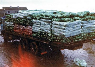 Cauliflower and swedes lorry, DVG 8T Volvo F7, Higher House, First lorry Roger Tucker bought when started on his own