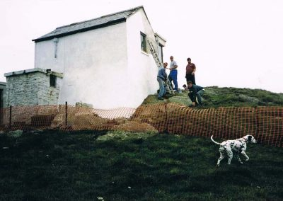 Rebuilding Prawle Point lookout, 1997
