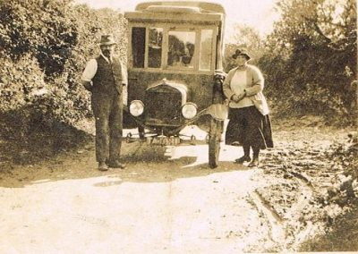 William Ernest and Frances Ann Tucker (Granny and Granfer) with van