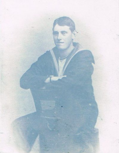 William Albert Partridge, aged 18/19, served on battle cruiser HMS Benbow in about 1918