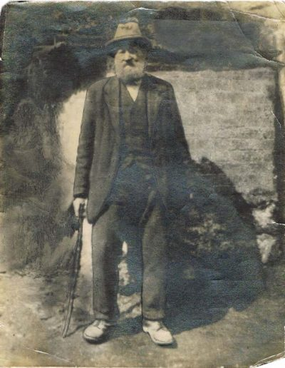 George Stone, Great Grandmother Tucker's father, aged 90. He walked from East Portlemouth to take his photograph.