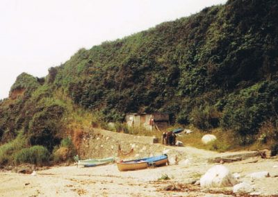 Postcard Ivy Cove with ramp up to cottages