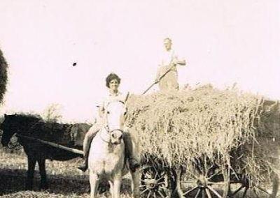 Manor Farm South Allington. Wreford Baker with pony and cart