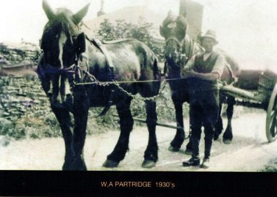 W A Partridge outside Shepherd's Farm 1930s