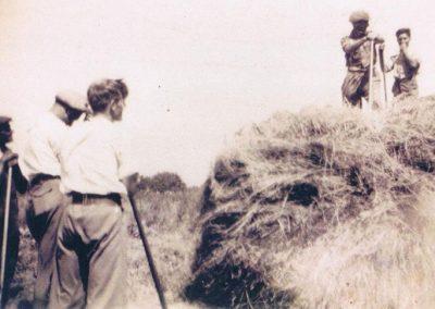 Coolings Farm Dick Wotton, Ron Putt, Peter Fraser, Bob Partridge, Derek Wotton, 1947