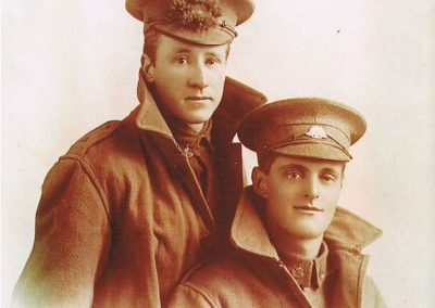 Ernest John Baker (right) WWI