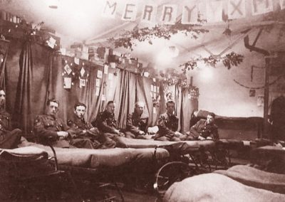RAF Christmas at East Prawle in the barracks room WWII