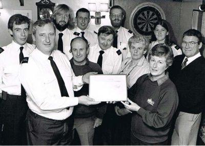 East Prawle Modern coastguards pre 1997, about 1994