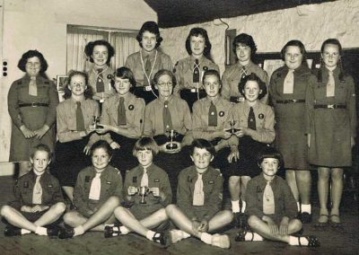 Girl guides and Brownies, the Providence Inn Assembly Room, late 1950s