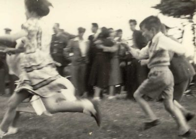Coronation at East Prawle Ashley Atkins running 1953