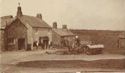 East Prawle Green with the blacksmith shop, Sunnyside and the Union Hotel