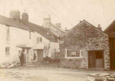 Carrie Beer's house in East Prawle - the original post office (now known as 1 Corner Cottage) 1925