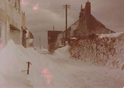 Fore Street in the snow, Ice pick from Royal Marines 1961