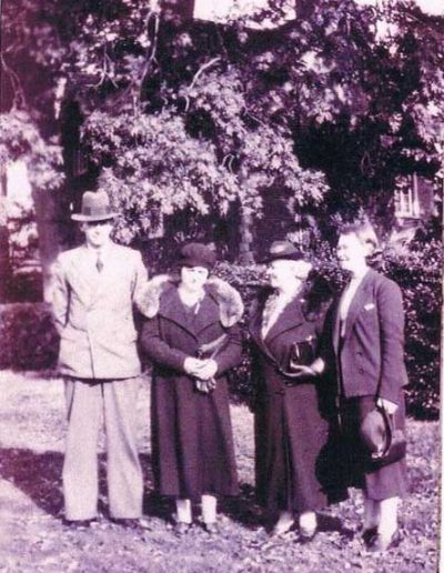 Partridge Group: Left: J.H. Partridge, Dorothy Partridge (née Tucker), Lily Press (née Tucker), Molly Press
