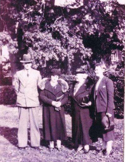 Partridge Group: Left: J.H. Partridge, Dorothy Partridge (née Tucker), Lily Press (née Tucker), Molly Press