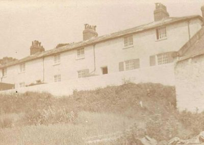Early photograph of the original coastguard cottages undated