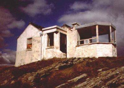 The derelict Lookout before restoration in 1997