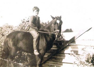Johnnie Green rode Trigger from Prawle Point to Locks Farm, to catch school bus to Kingsbridge and left Trigger at Lock's Farm, Trigger was kept in a Nissen hut at Prawle Point in winter, early 1950's