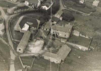 Aerial photograph of Lower House Farm East Prawle. Undated but before the barns were converted c.1959-60