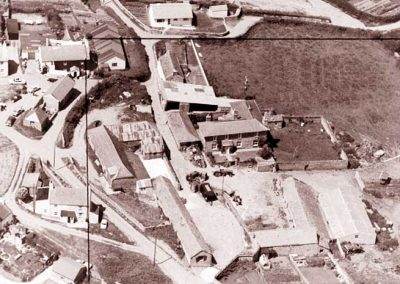 Aerial map of Lower House Farm East Prawle. Undated but before the barns were converted but after 1972/73 because the Saddle is already built