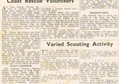 High Award Gained by Prawle Point Coast Rescue Volunteers, 1970s