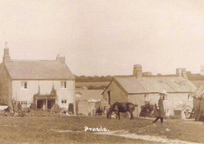 East Prawle Green with pub and Sunnyside post 1920s