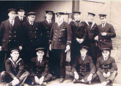 Coastguards: Frederick Gordon (back left) was Chief Officer at Prawle Point, 1920