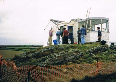 Rebuilding Prawle Point lookout 1990s, now National Coastwatch