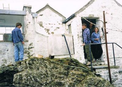 Rebuilding Prawle Point lookout 1990s