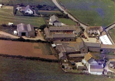Aerial view of Higher Farm and buildings undated